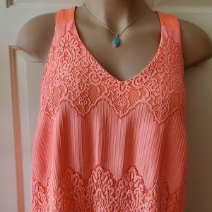 Lane Bryant Sleeveless Lace Maxi Dress